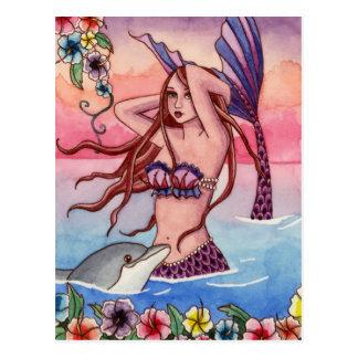 Maleah - Dolphin Mermaid Postcard
