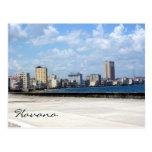 malecon habana harbor postcard