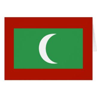 Maledives Flag Greeting Card