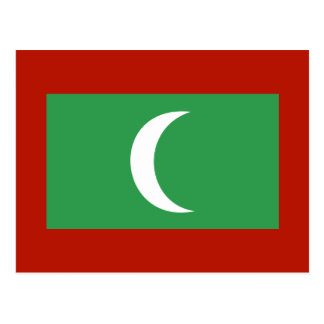 Maledives Flag Postcard