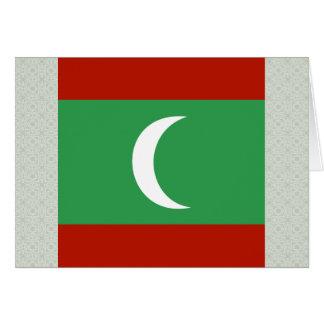 Maledives High quality Flag Greeting Card