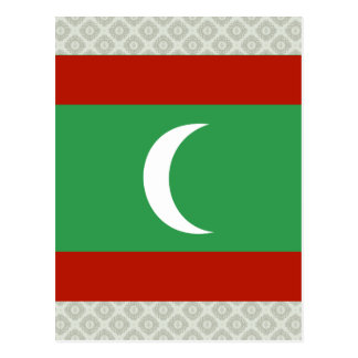 Maledives High quality Flag Postcard
