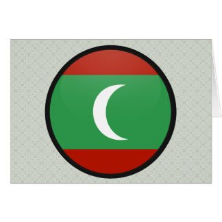 Maledives quality Flag Circle Greeting Card