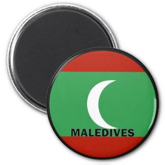 Maledives Roundel quality Flag 2 Inch Round Magnet
