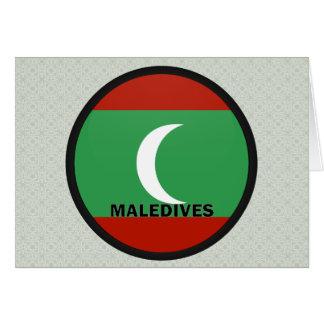 Maledives Roundel quality Flag Greeting Card