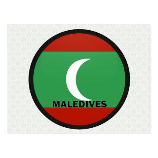 Maledives Roundel quality Flag Postcard