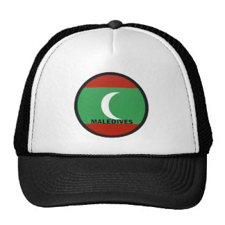 Maledives Roundel quality Flag Trucker Hat