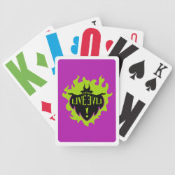 Playing Cards with Maleficent: Long Live Evil design