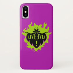 Case-Mate Barely There iPhone X Case with Maleficent: Long Live Evil design