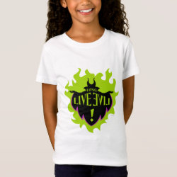 Girls' Fine Jersey T-Shirt with Maleficent: Long Live Evil design