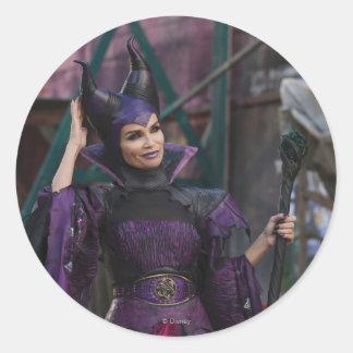 Maleficent Photo 1 2 Classic Round Sticker