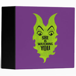 Avery Signature 1' Binder with Maleficent She Is Watching You design