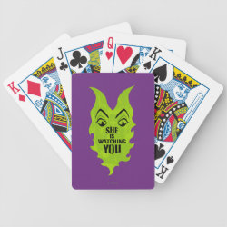 Maleficent She Is Watching You Playing Cards