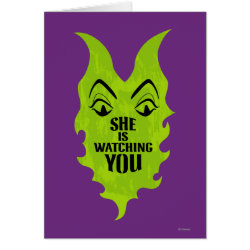 Greeting Card with Maleficent She Is Watching You design
