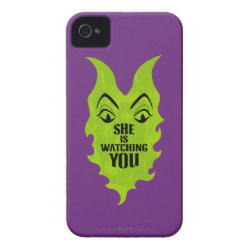 Case-Mate iPhone 4 Barely There Universal Case with Maleficent She Is Watching You design
