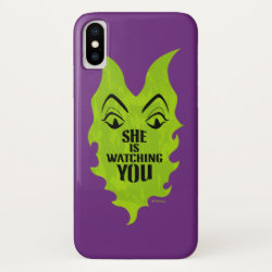 Case-Mate Barely There iPhone X Case with Maleficent She Is Watching You design