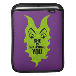 iPad Sleeve with Maleficent She Is Watching You design