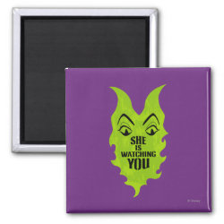 Maleficent She Is Watching You Square Magnet