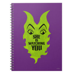 Photo Notebook (6.5' x 8.75', 80 Pages B&W) with Maleficent She Is Watching You design