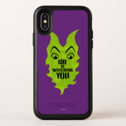 OtterBox Apple iPhone X Symmetry Case with Maleficent She Is Watching You design
