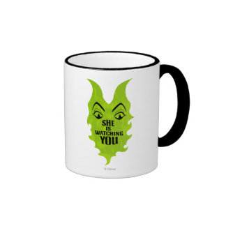 Maleficent - She is Watching You Ringer Mug