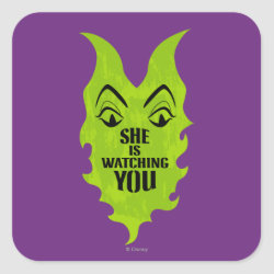 Maleficent She Is Watching You Square Sticker