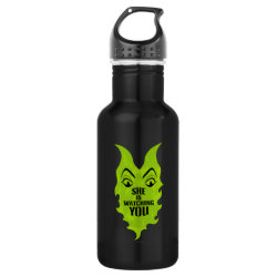 Water Bottle (24 oz) with Maleficent She Is Watching You design