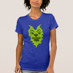 Women's American Apparel Fine Jersey Short Sleeve T-Shirt with Maleficent She Is Watching You design