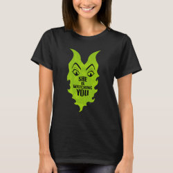 Women's Basic T-Shirt with Maleficent She Is Watching You design