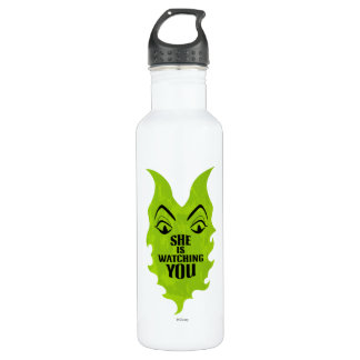 Maleficent - She is Watching You Water Bottle
