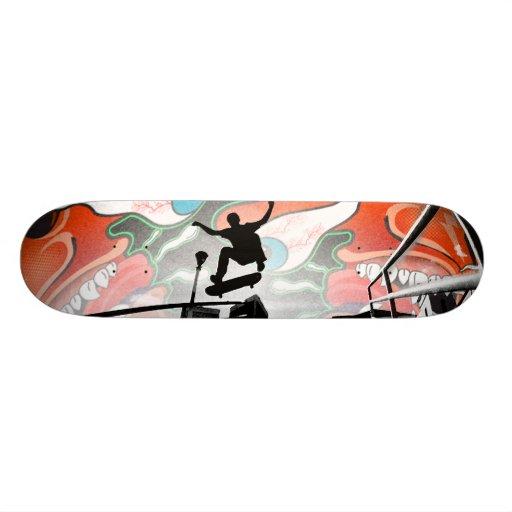 Males del hormigón skate board