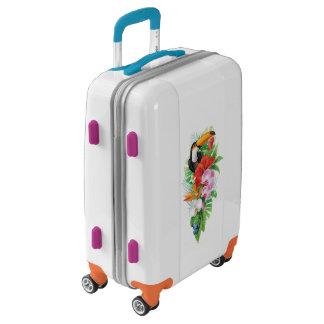 Maleta (derecha) tropical del equipaje de Toucan