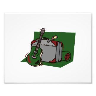 maleta green.png de la guitarra acústica fotografía
