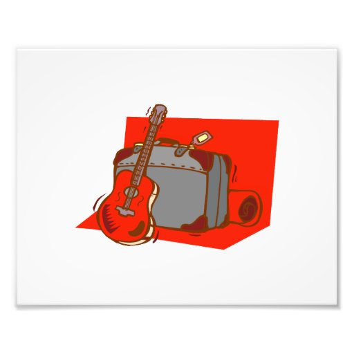 maleta red.png de la guitarra acústica cojinete
