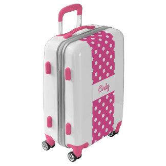Maleta rosada femenina de encargo del equipaje de