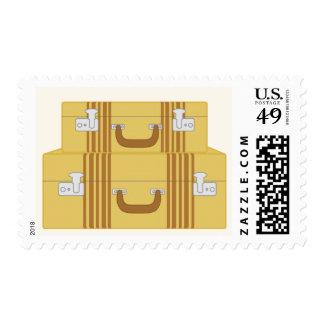 Maletas del vintage sellos