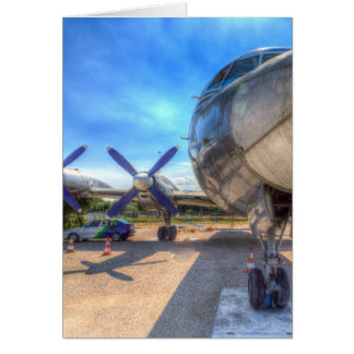 Malev Hungarian Airlines Ilyushin IL-18 Card