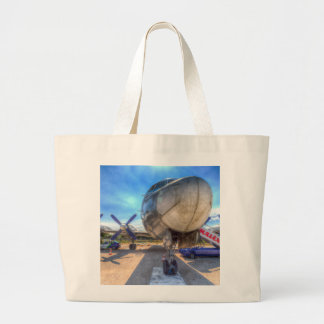 Malev Hungarian Airlines Ilyushin IL-18 Large Tote Bag