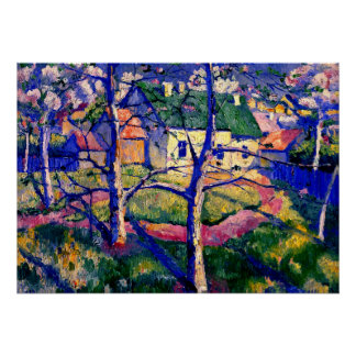 Malevich - Apple Trees in Blossom Poster