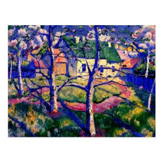 Malevich - manzanos En flor Tarjeta Postal