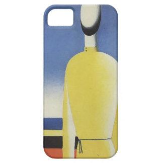 Malevich-Mitad-Figura de Kazimir en una camisa iPhone 5 Cárcasa
