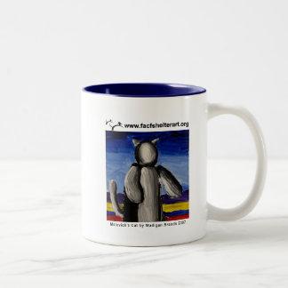 Malevich's Cat Two-Tone Coffee Mug