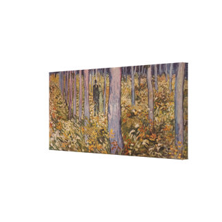 """Maleza de Van Gogh la """"con dos figuras"""" (1890) Lona Envuelta Para Galerías"""