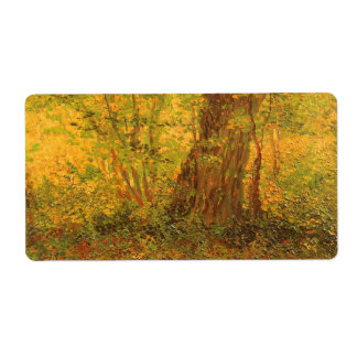 Maleza de Vincent van Gogh, bella arte del vintage Etiqueta De Envío