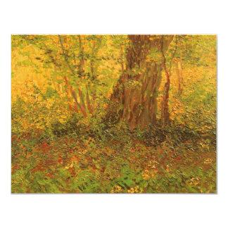 """Maleza de Vincent van Gogh, bella arte del vintage Invitación 4.25"""" X 5.5"""""""