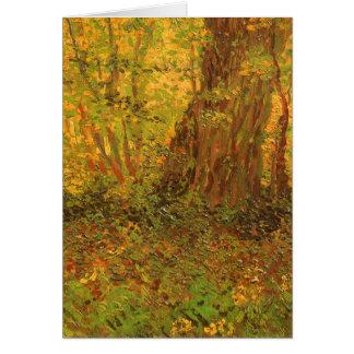 Maleza de Vincent van Gogh, bella arte del vintage Tarjeta De Felicitación
