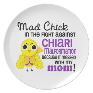 Malformación enojada de Chiari de la mamá del poll Platos