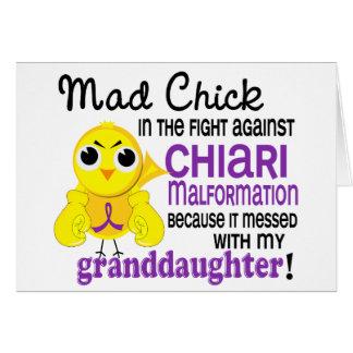 Malformación enojada de Chiari de la nieta del pol Tarjeta De Felicitación