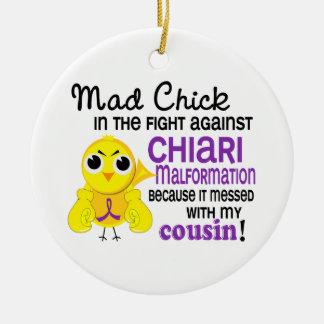 Malformación enojada de Chiari del primo del pollu Ornamentos Para Reyes Magos