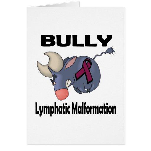 Malformación linfática del matón tarjeta de felicitación